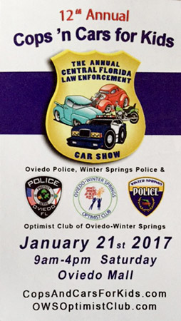 Cops 'N Cars for Kids flyer